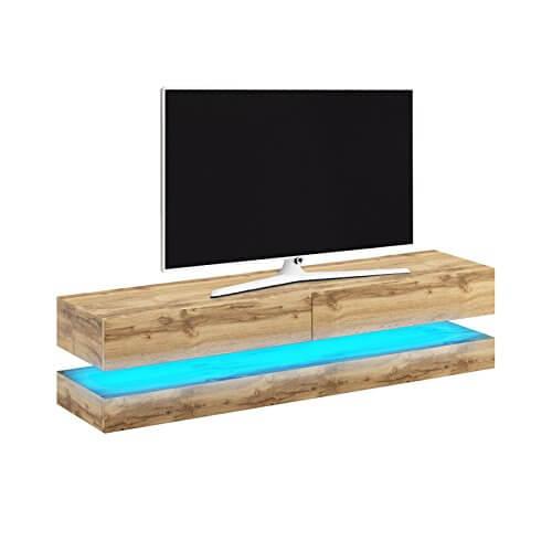 Mobile Aviator porta TV in legno moderno con led